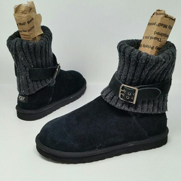 db5ebb386c1 Ugg Australia Women's Boots Black Suede Size 9
